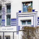 Detailansicht der Villa Wagner II im Jugendstil von Otto Wagner