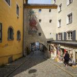 Eine Gasse in der Altstadt von Passau