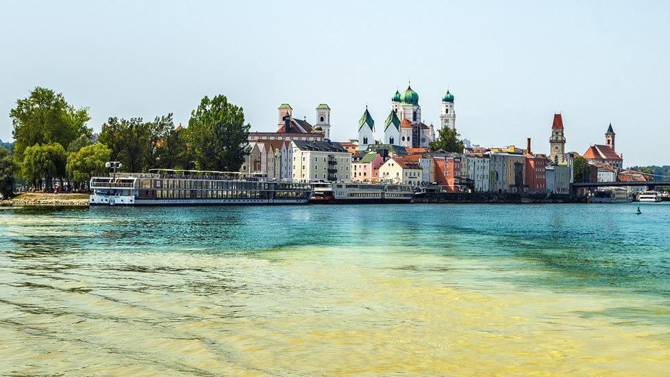 Dreiflüsseeck und Altstadt von Passau