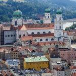 Der Dom St. Stephan (Stephansdom) von der Veste Oberhaus aus gesehen