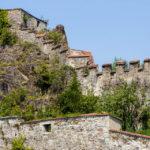 Burgmauern der Festung Veste Oberhaus in Passau