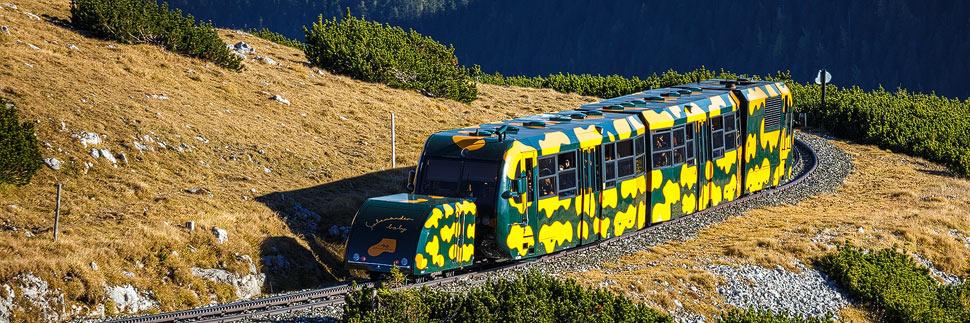 Die Schneebergbahn auf dem Schneeberg