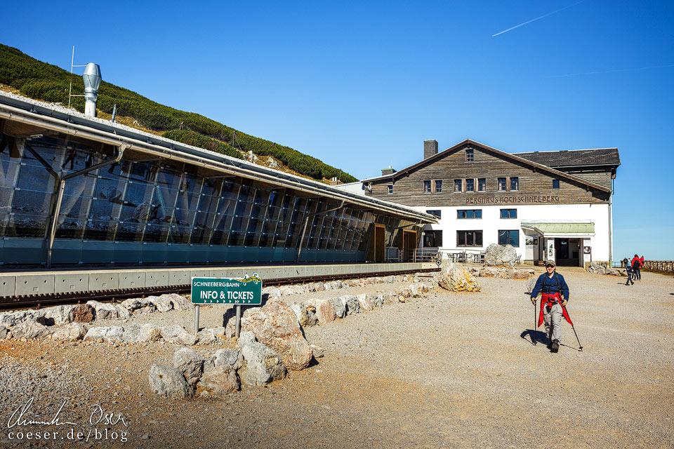 Bergbahnhof und Berghaus Hochschneeberg
