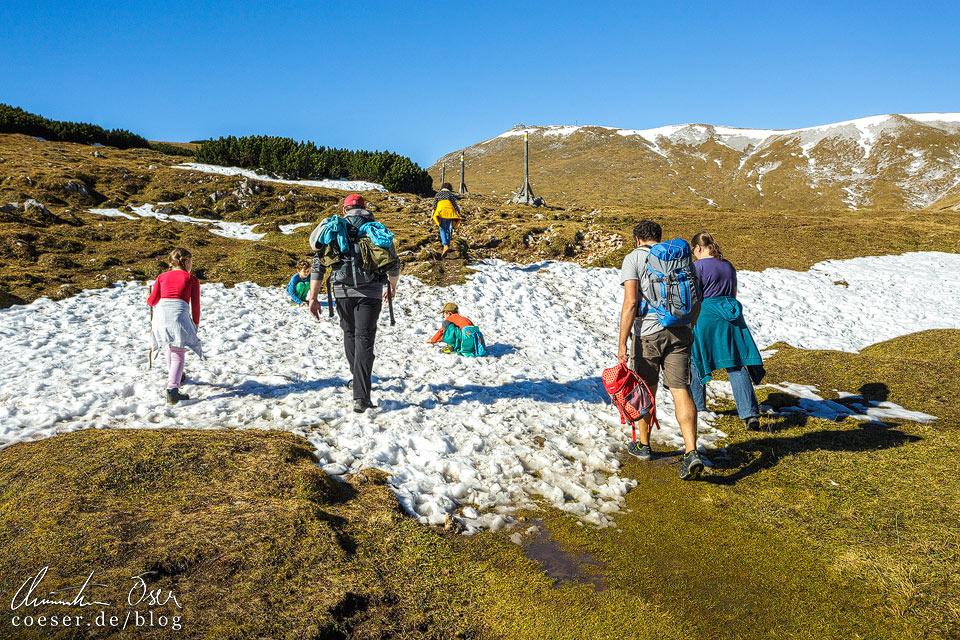 Wanderweg zum Klosterwappen auf dem Schneeberg