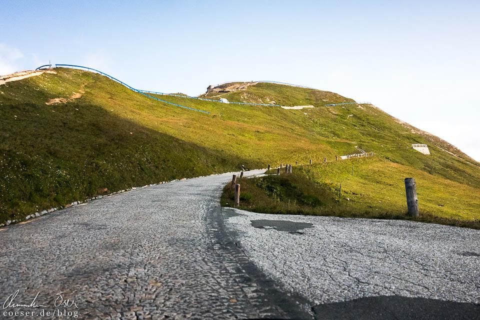 Auffahrt zur Edelweißspitze auf der Großglockner Hochalpenstraße