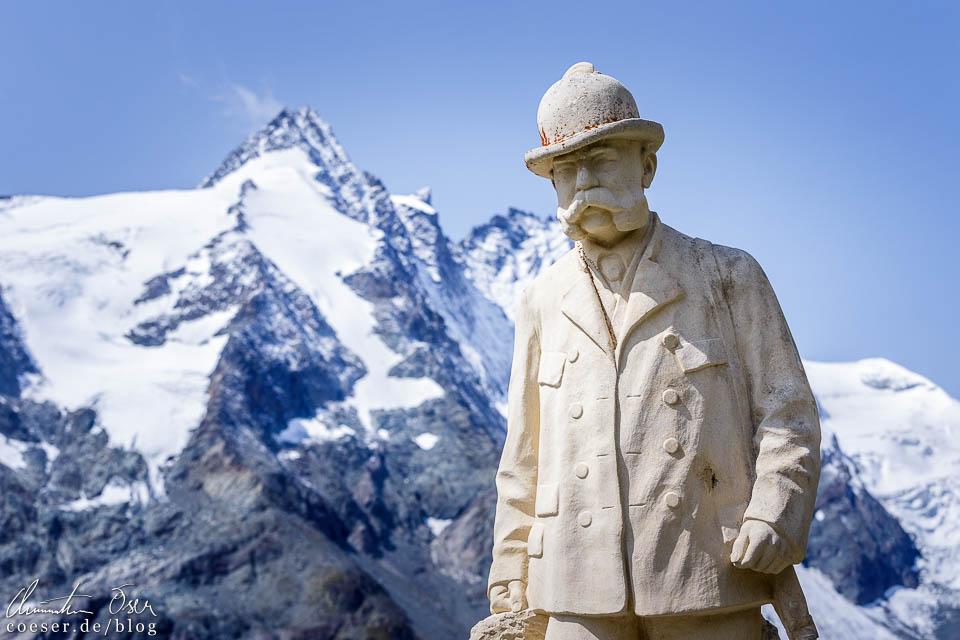 Kaiserstein mit Großglockner auf der Kaiser-Franz-Josefs-Höhe