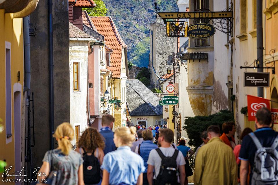 Enge Gassen in Dürnstein in der Wachau