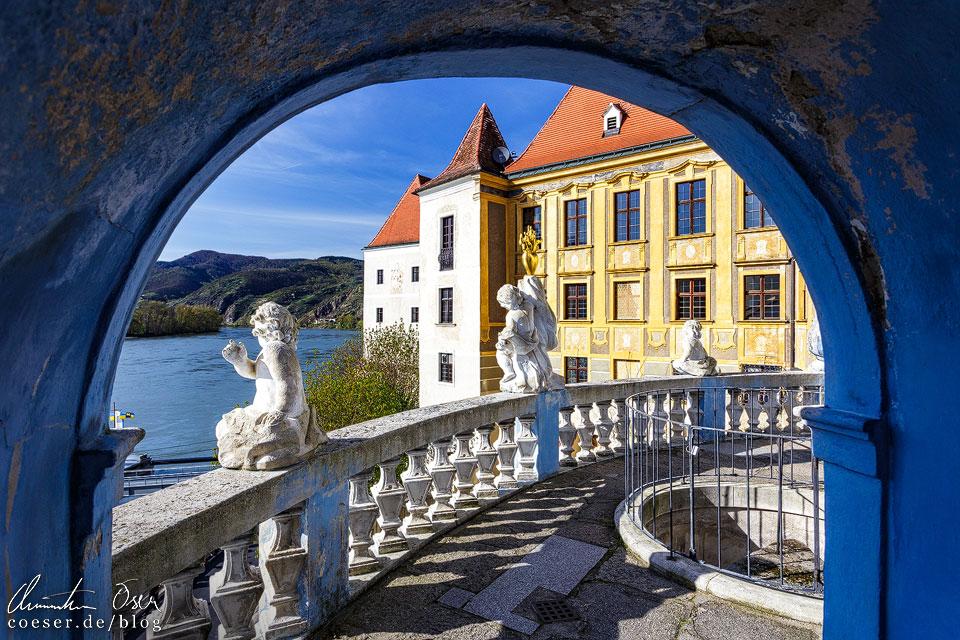 Donauterrasse im Stift Dürnstein in der Wachau