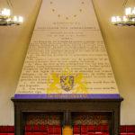 Detailaufnahme im Ridderzaal im Binnenhof in Den Haag