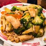 Hühnerfleisch mit Broccoli im Chinarestaurant Fat Kee in Den Haag