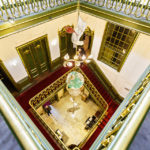 Treppenhaus im Escher-Museum Escher in Het Paleis in Den Haag