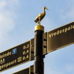 Der Storch ist das Wappentier von Den Haag