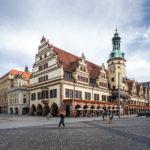 Altes Rathaus auf dem Markt in Leipzig