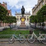 Goethedenkmal auf dem Naschmarkt in Leipzig