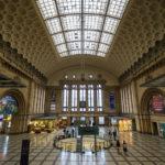 Die Haupthalle des Hauptbahnhofs in Leipzig