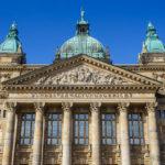 Außenansicht des Reichsgerichtsgebäudes/Bundesverwaltungsgericht in Leipzig