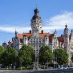 Außenansicht des Neuen Rathaus in Leipzig