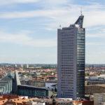 Der Panorama Tower, gesehen vom Rathausturm in Leipzig