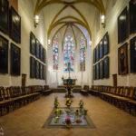 Grabstätte von Johann Sebastian Bach in der Thomaskirche in Leipzig