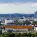 Ausblick auf Leipzig von der Aussichtsplattform des Völkerschlachtdenkmals