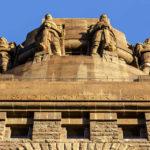 Detailansicht des Völkerschlachtdenkmals in Leipzig