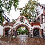 Historisches Eingangsportal des Leipziger Zoos