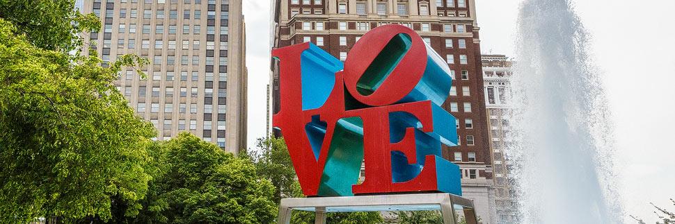 Das LOVE Sign im LOVE Park von Philadelphia