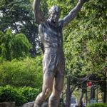 Statue von Silvester Stallone als Rocky vor dem Philadelphia Museum of Art