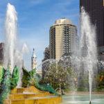 Swann Memorial Fountain auf dem Logan Square in Philadelphia