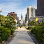 Logan Square und Swann Memorial Fountain in Philadelphia