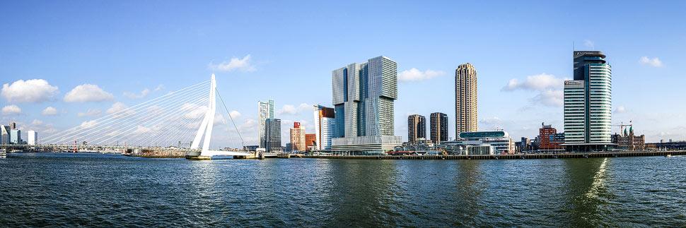 Panorama der Skyline von Rotterdam