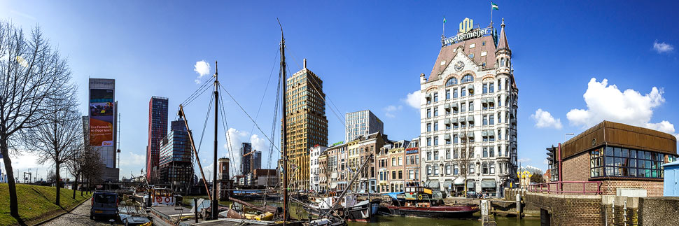 Der Oude Haven (Alter Hafen) von Rotterdam