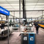 Bahnsteige am Rotterdamer Hauptbahnhof Centraal