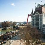 Ausblick aus einem Zimmer im citizenM Hotel Rotterdam auf den Oude Haven