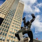 Das Denkmal De Verwoeste Stad in Rotterdam