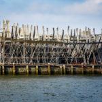 Eine Werft in Delfshaven, in der das Schiff De Delft von 1773 originalgetreu nachgebaut wird, gesehen während einer Hafenrundfahrt