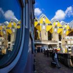 Spiegelung der Kubushäuser in Rotterdam