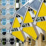 Die Kubushäuser und der Blaakturm in Rotterdam