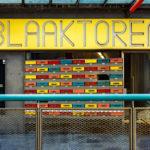 Eingangstür des Blaakturms in Rotterdam