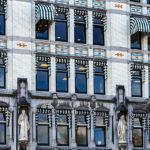 Fassadendetail des Het Witte Huis im Oude Haven von Rotterdam