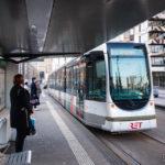 Die Straßenbahn von Rotterdam
