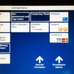 Anleitung für den Kauf eines Tourist Day Tickets an einem Automaten in Rotterdam