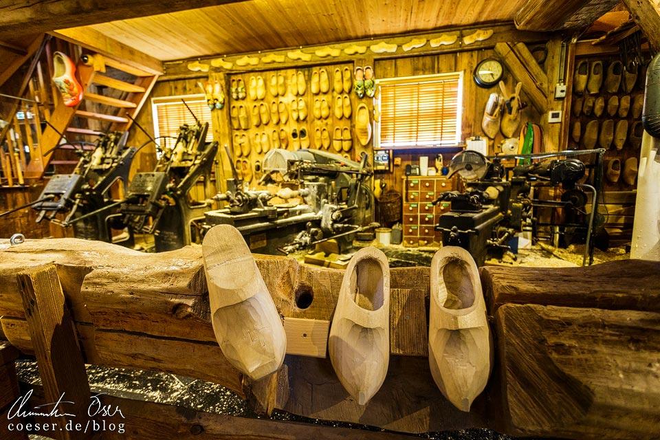 Holzschuhwerkstatt Klompenmakerij in Zaanse Schans