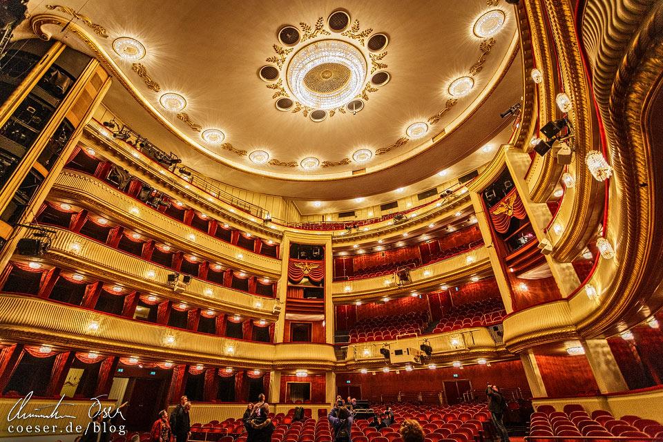 Zuschauerraum im Burgtheater in Wien