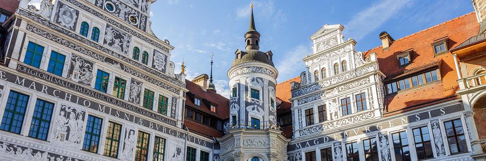 Residenzschloss und Hausmannsturm in Dresden