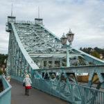 """Die Loschwitzer Brücke (""""Blaues Wunder"""") in Dresden"""