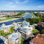 Aussicht von der Kuppel der Frauenkirche in Dresden