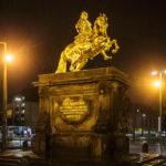 Das Standbild Goldener Reiter von König August des Starken in Dresden