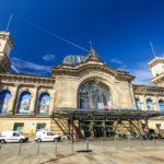 Außenansicht des Hauptbahnhof von Dresden