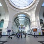 Innenansicht des Hauptbahnhof von Dresden